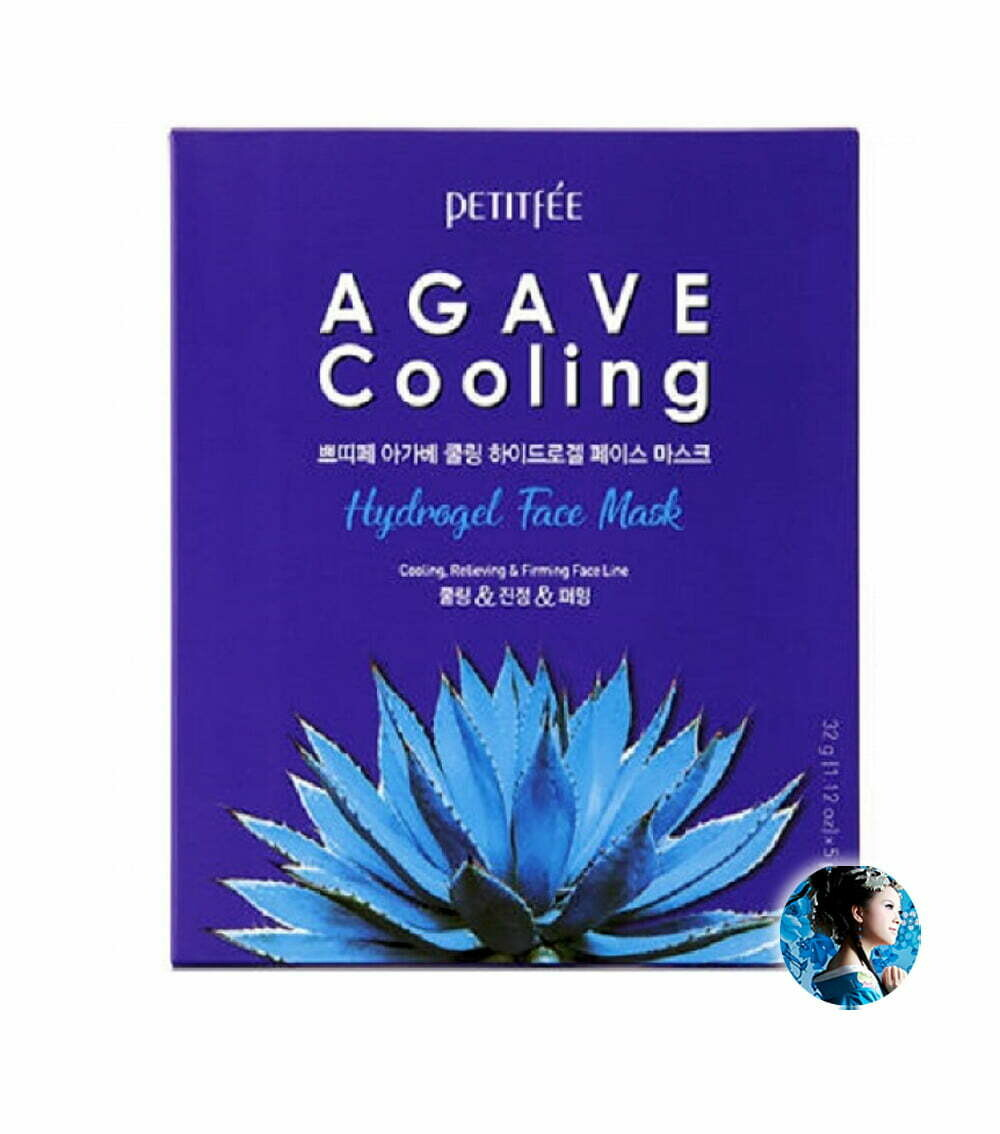 Petitfee Охлаждающая гидрогелевая маска с экстрактом агавы Agave Cooling Hydrogel Face Mask