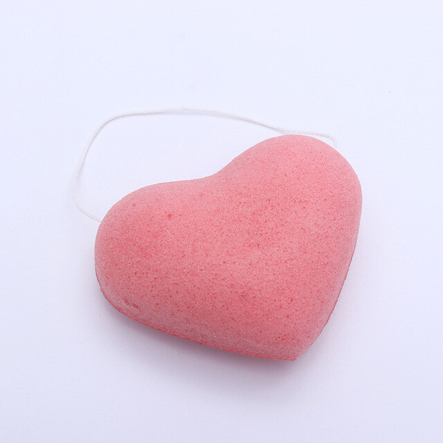 """Спонж-конжак для умывания """"Сердце"""""""