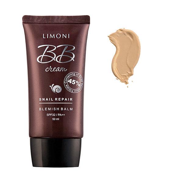 LIMONI ББ-крем для лица с экстрактом секреции улитки Snail Repair Blemish Balm тон №2 50ml