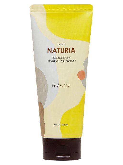 [NATURIA] Скраб для тела ВАНИЛЬ Creamy Oil Salt Scrub So Vanilla, 250 гр