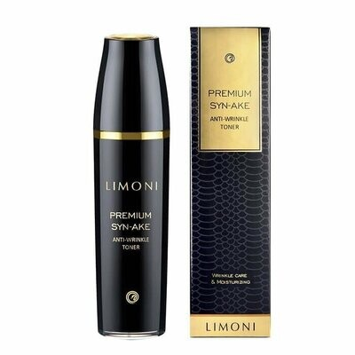 Limoni Premium Syn-Ake Anti-Wrinkle Toner Антивозрастный тонер для лица с пептидом змеиного яда
