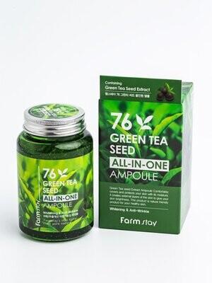 Многофункциональная ампульная сыворотка с зеленым чаем, 250мл, FarmStay