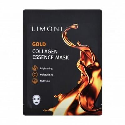 LIMONI Маска для лица восстанавливающая с коллоидным золотом и коллагеном Gold Collagen Essence Mas