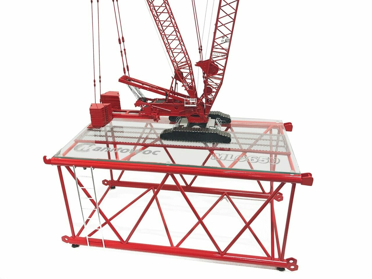 MLC650 Lattice Boom Section Display Table - Manitowoc Red