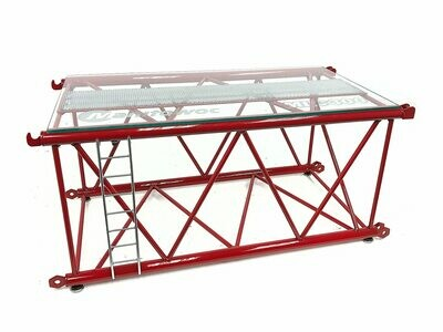 MLC300 Lattice Boom Section Display Table - Manitowoc Red