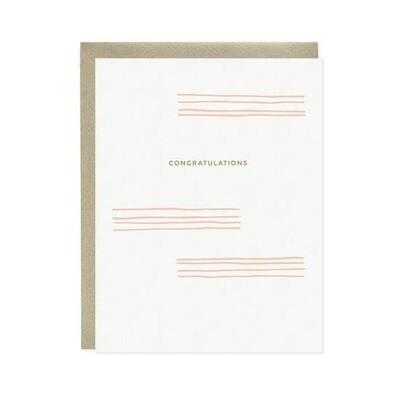 Lines Congratulations Card