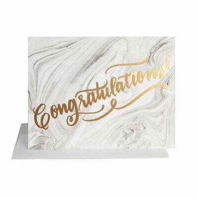 Congrats Marble Card