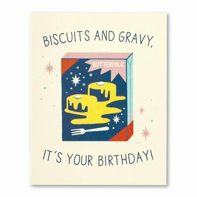 Biscuits & Gravy Birthday Card