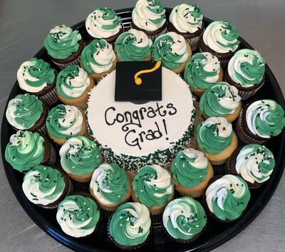 Graduation Cake and Cupcake Platter