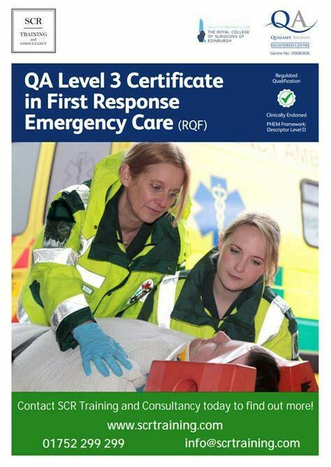 ​QA Level 3 Certificate in First Response Emergency Care (RQF)
