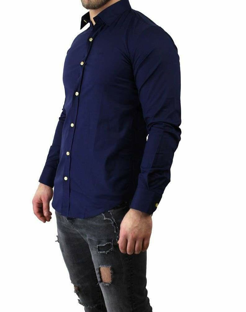 BOSS Men's Shirts Navy
