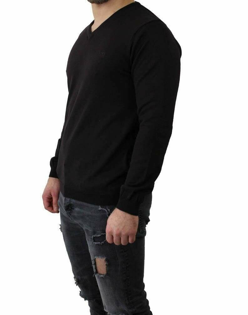 BOSS V Neck Men's Pullover Black
