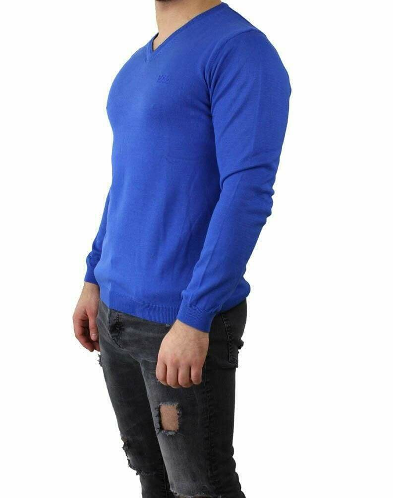 BOSS V Neck Men's Pullover Blue