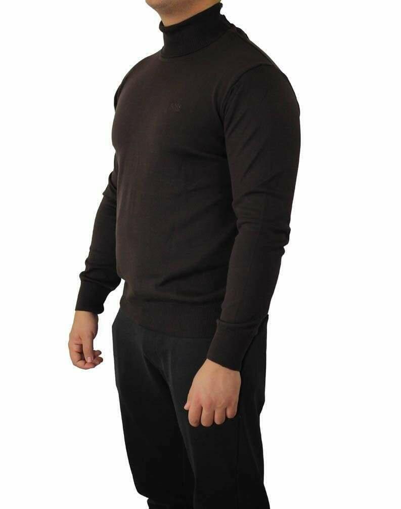 BOSS Rollneck Men's Pullover Brown