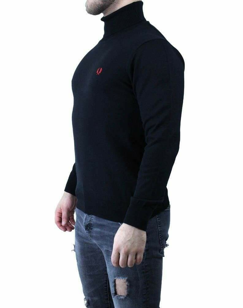 Fred Perry Rollneck Men's Pullover Black