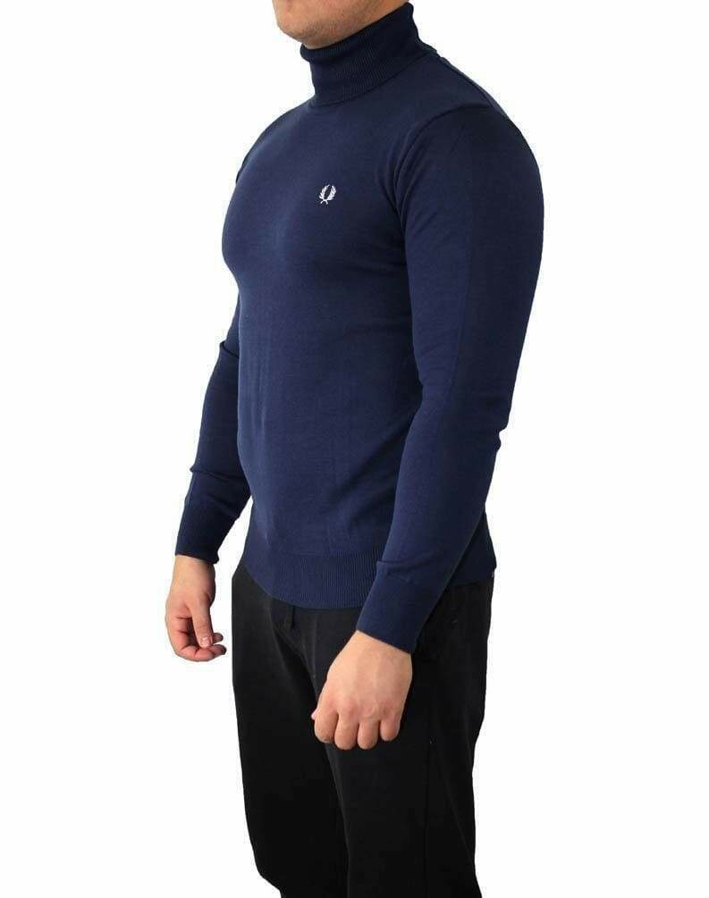Fred Perry Rollneck Men's Pullover Navy