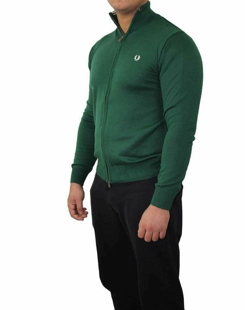 Fred Perry Men's Cardigan Green