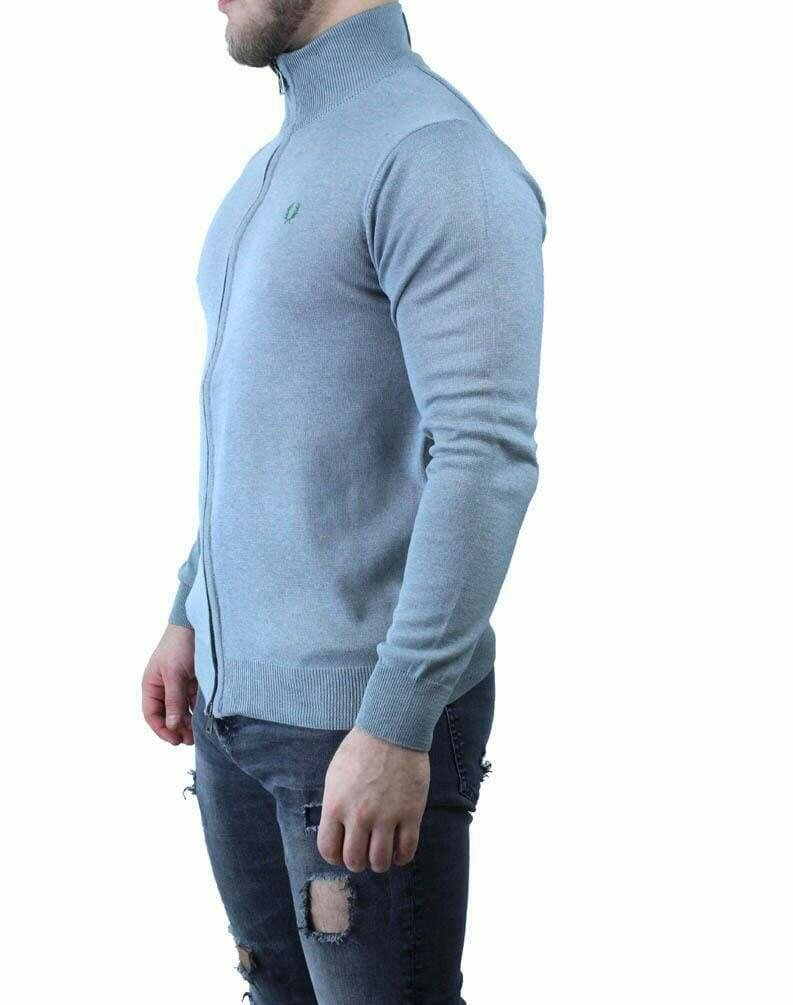 Fred Perry Men's Cardigan Light Gray