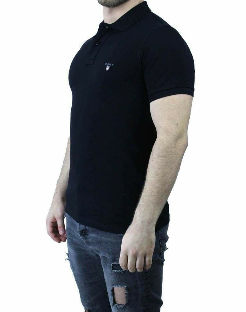 Gant Men's Polo Shirts Black