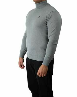 Ralph Lauren Rollneck Men's Pullover Light Gray - Navy