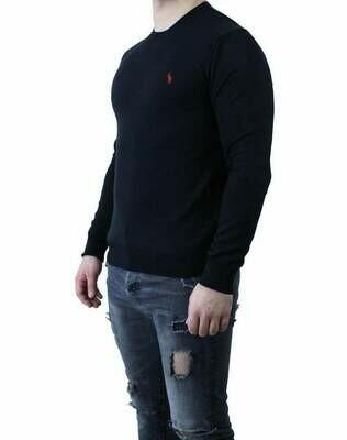 Ralph Lauren Crew Neck Men's Pullover Black - Red