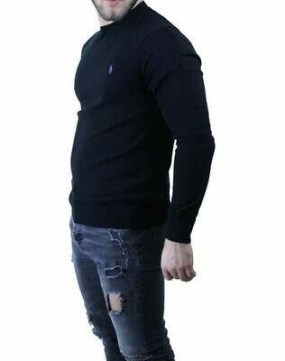 Ralph Lauren Crew Neck Men's Pullover Black - Purple