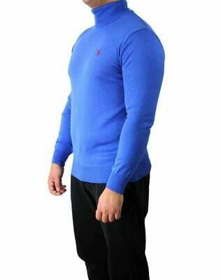Ralph Lauren Rollneck Men's Pullover Sax Blue - Red