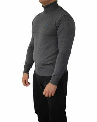 Ralph Lauren Rollneck Men's Pullover Dark Gray - Blue