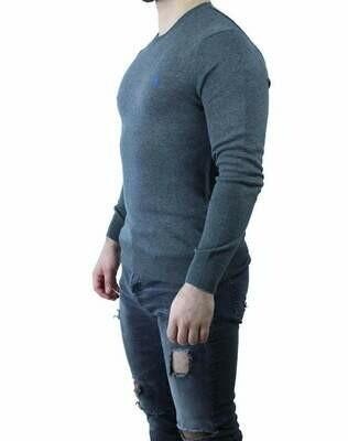 Ralph Lauren Crew Neck Men's Pullover Gray - Blue