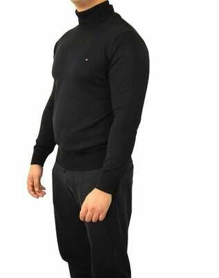 Tommy Hilfiger Rollneck Men's Pullover Black