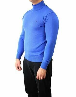 Tommy Hilfiger Rollneck Men's Pullover Blue