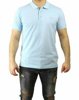 Burberry Men's Polo Shirts Light Blue