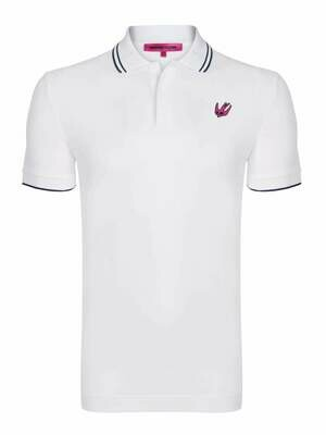 Alexander McQueen Men's Polo Shirts White Swallow