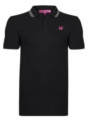 Alexander McQueen Men's Polo Shirts Black Swallow