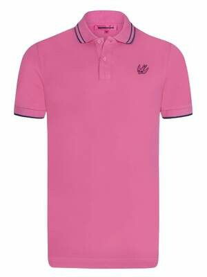 Alexander McQueen Men's Polo Shirts Pink Swallow