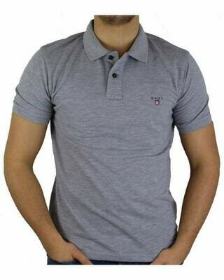 Gant Men's Polo Shirts Gray