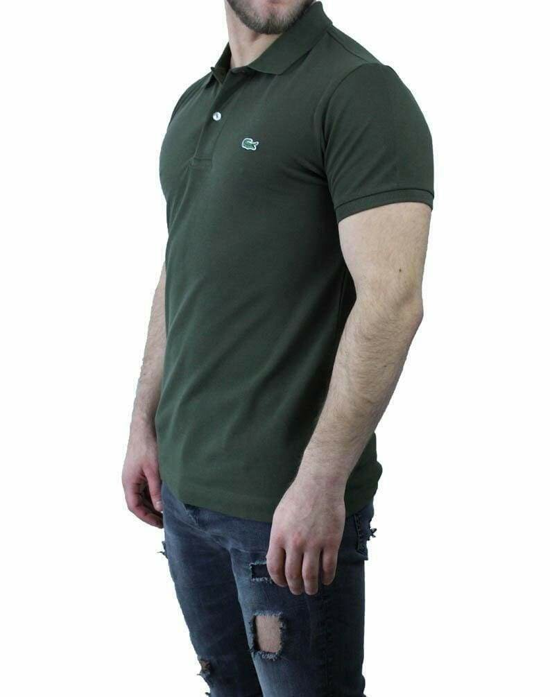 Lacoste Classic Fit Men's Polo Shirts Khaki