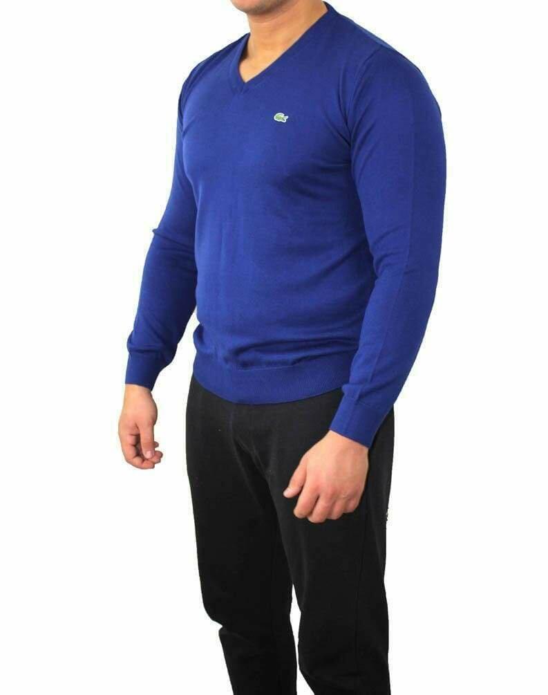 Lacoste Men's Pullover V - Neck Sax Blue