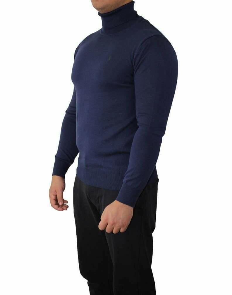 Ralph Lauren Rollneck Men's Pullover Navy - Green