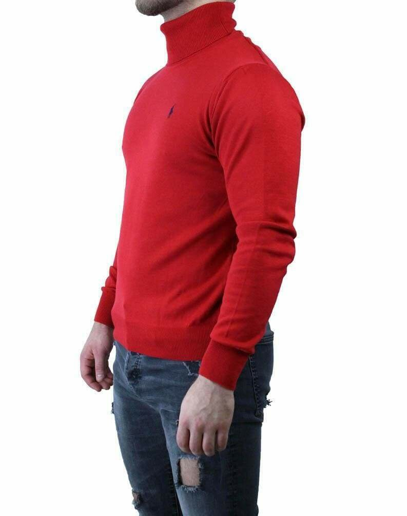 Ralph Lauren Rollneck Men's Pullover Red - Navy