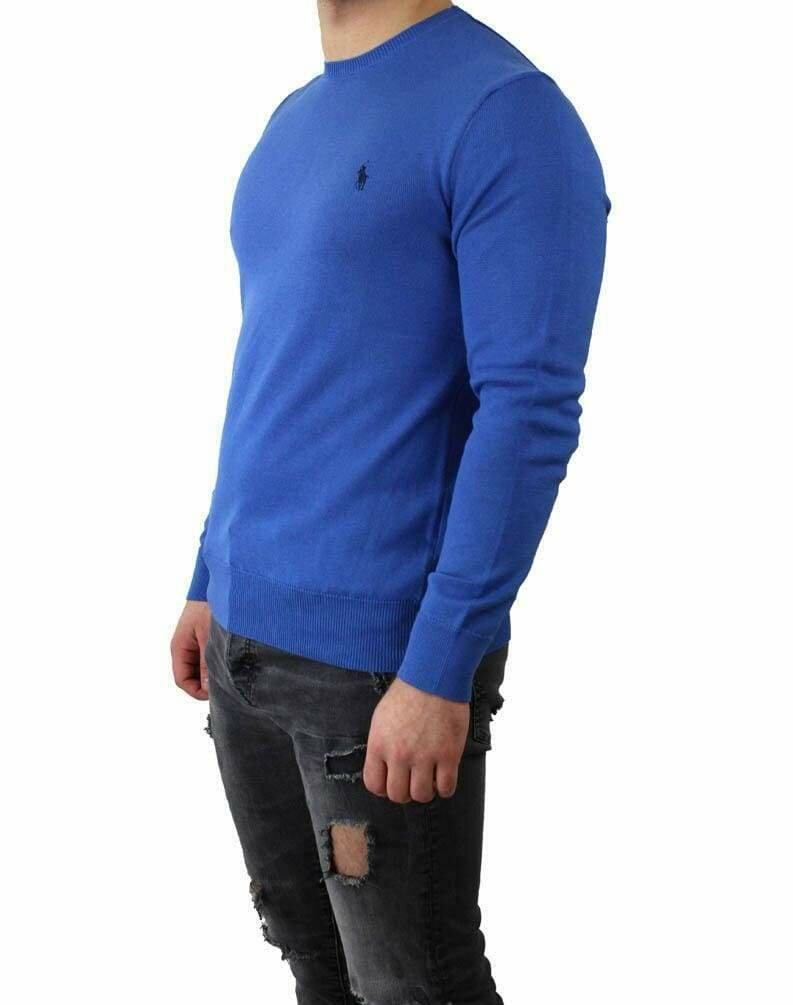 Ralph Lauren Crew Neck Men's Pullover Sax Blue - Navy