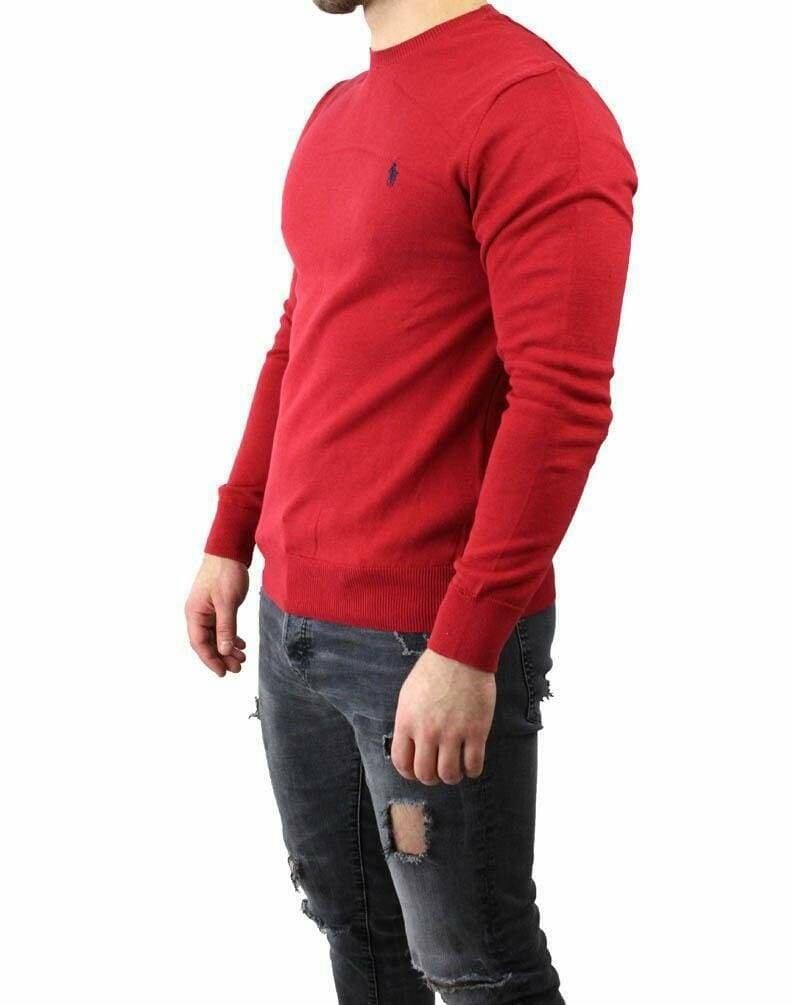 Ralph Lauren Crew Neck Men's Pullover Red - Navy