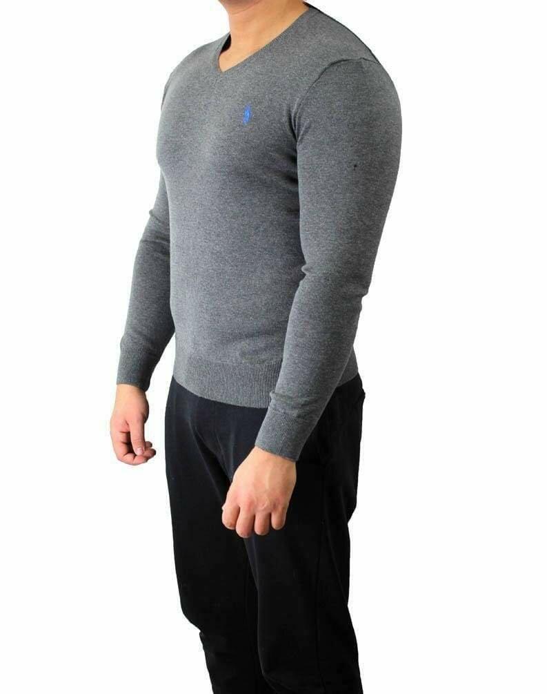 Ralph Lauren V Neck Men's Pullove Gray - Blue