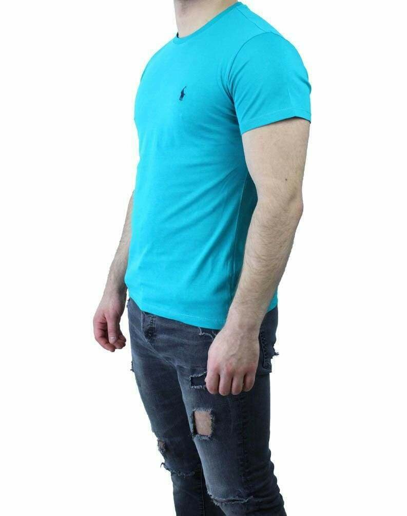 Ralph Lauren V Neck Men's T-Shirt Turquoise - Black