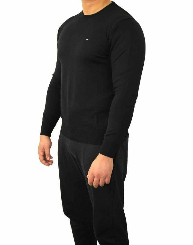 Tommy Hilfiger Crew Neck Men's Pullover Black