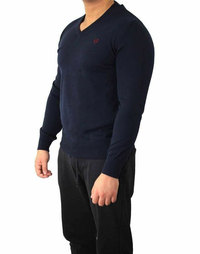 Fred Perry V Neck Men's Pullover Navy