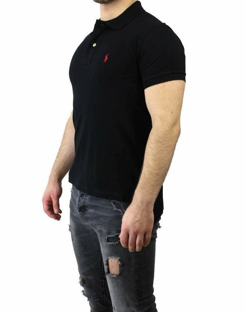 Ralph Lauren Slim Fit Men's Polo Shirts Small Pony Black - Red