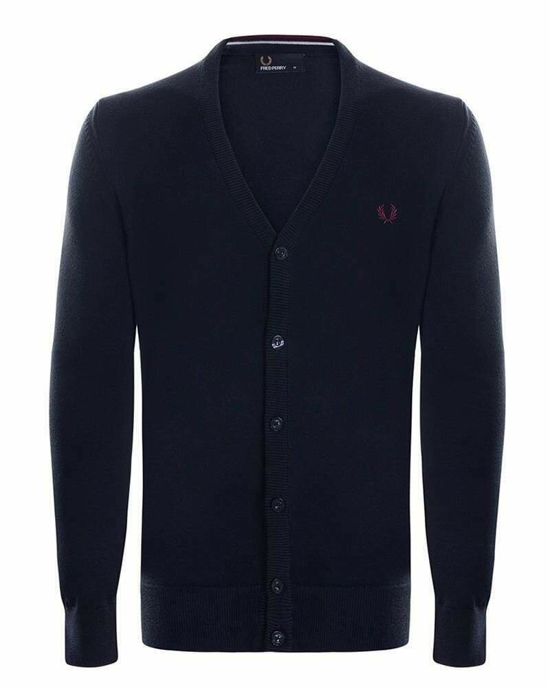 Fred Perry Men's Cardigan Dark Carbon