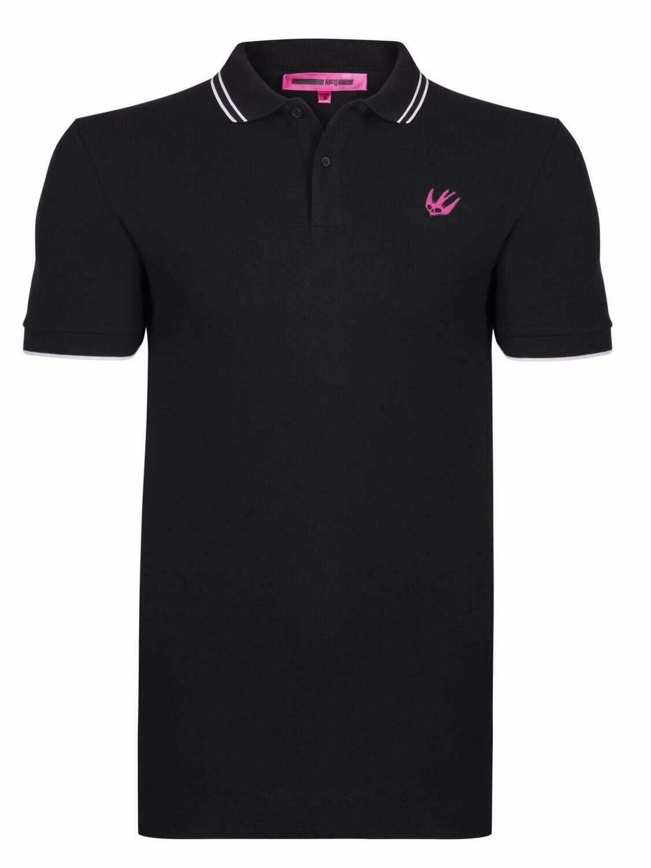 Alexander McQueen Men's Polo Shirts Black Swallow