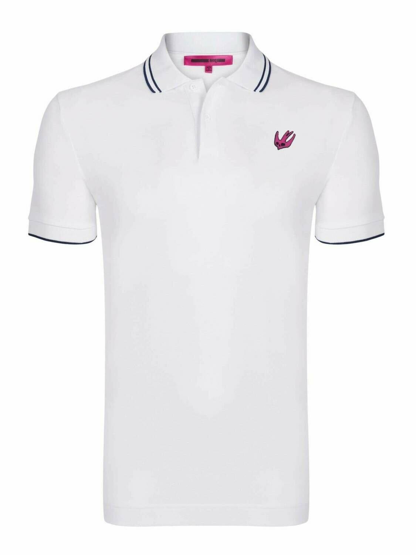 Alexander McQueen Men's Polo Shirts White Swallow